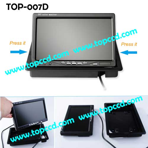 7inch Headrest TFT LCD Digital Monitor from Topccd TOP007D