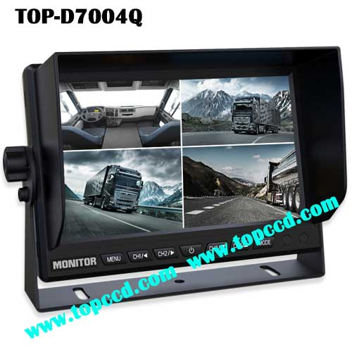 7inch Truck Quad TFT LCD Reversing Backup Monitor from Topccd TOPD7004Q