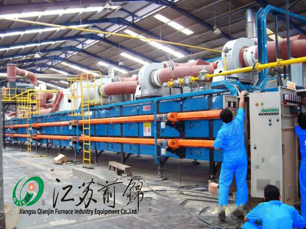 Roller kiln with double deck natural gas