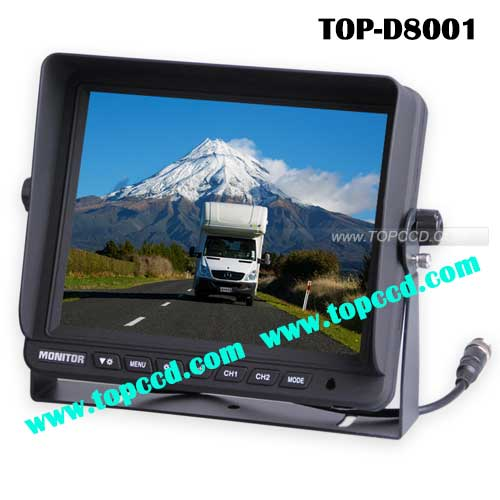 Digital 8 inch Heavy duty vehicle Rearview Backup TFT LCD monitor from Topccd TOPD8001