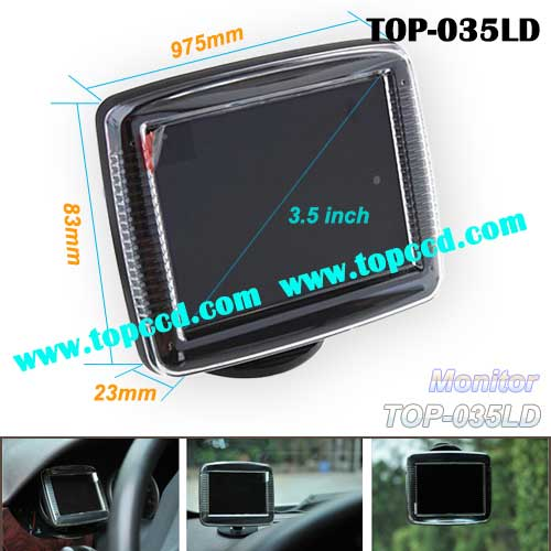 Universal 35 Inch Car rear view reversing backup TFT LCD Screen Monitor TOP035LD