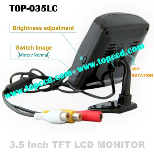 35 Inch TFT LCD HD Car Rear View Parking Monitor from Topccd TOP035LC