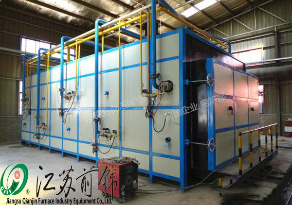 Ceramic shuttle kiln of natural gas 26 cubic meters