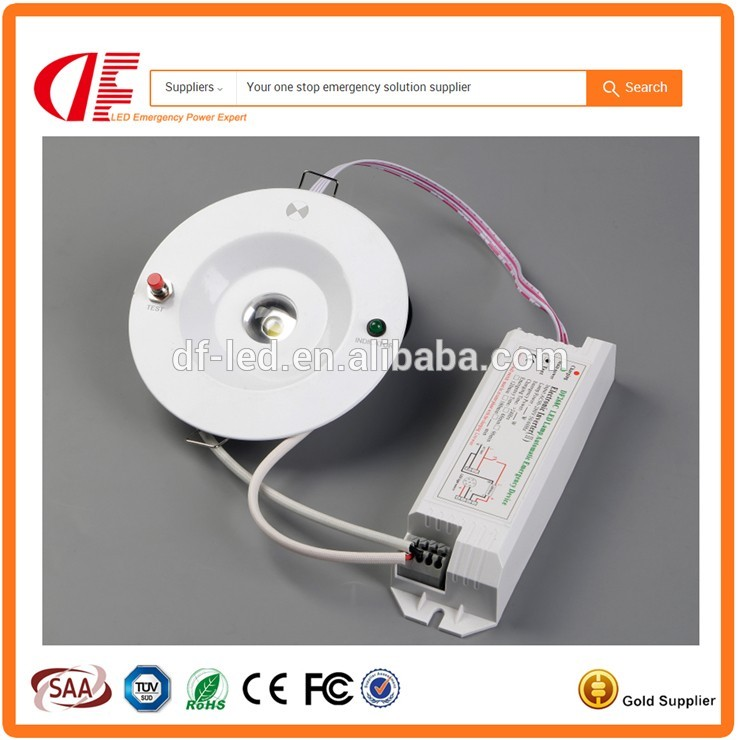 Good quality 3W emergency ceiling light emergency funcion 3hours battery backup light for fire escaping