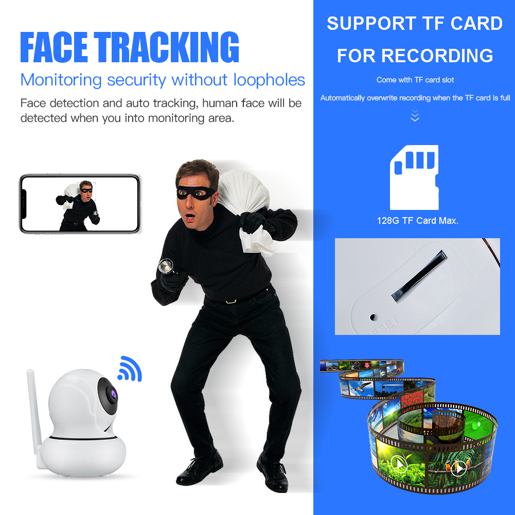 K21 1080P Face Tracking 4X Zoom IP Camera