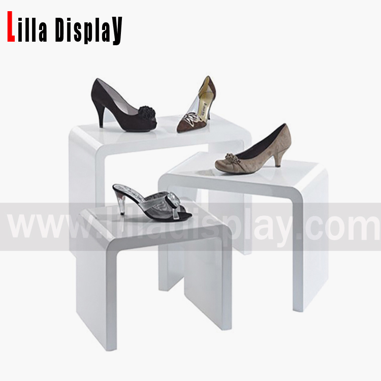 LilladisplayBepoke high quality MDF retail store shoes display cubes DC008SW