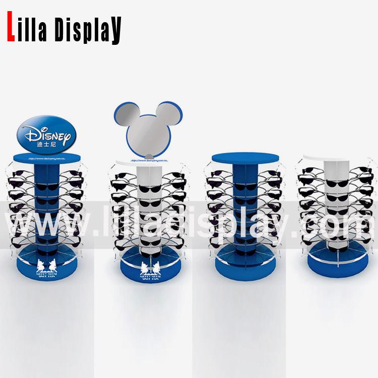 Lilladisplay Disney retail store use sunglasses rotating display stand with mirror 20180209