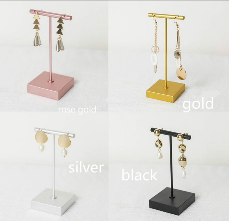 LilladisplayMetal T shaped earring display stand for retail display with two sizes 4 colors 2019 new design style 2019