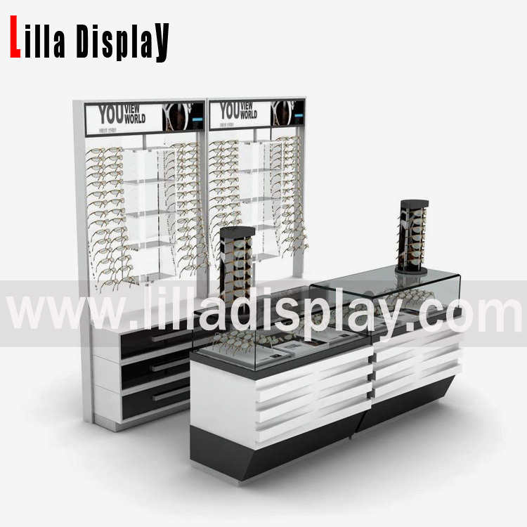 Lilladisplay Retail eyeglasses stoer use MDF wall mount eyeglasses display cabinets and display racks systems 20180211
