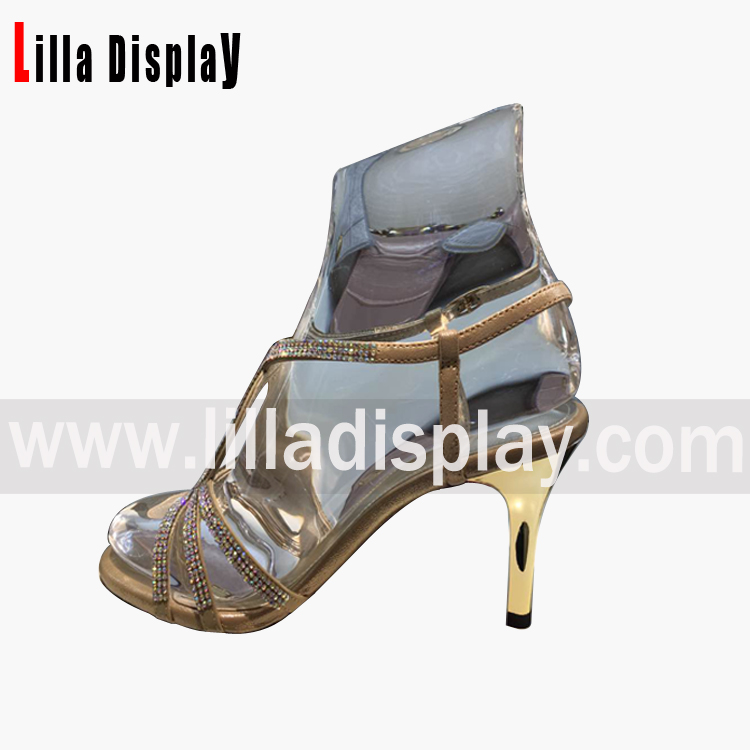 LilladisplayShoes store use crystal shoes display stand for 4cm6cm heels height pumps shoes wedgeshigh heels display
