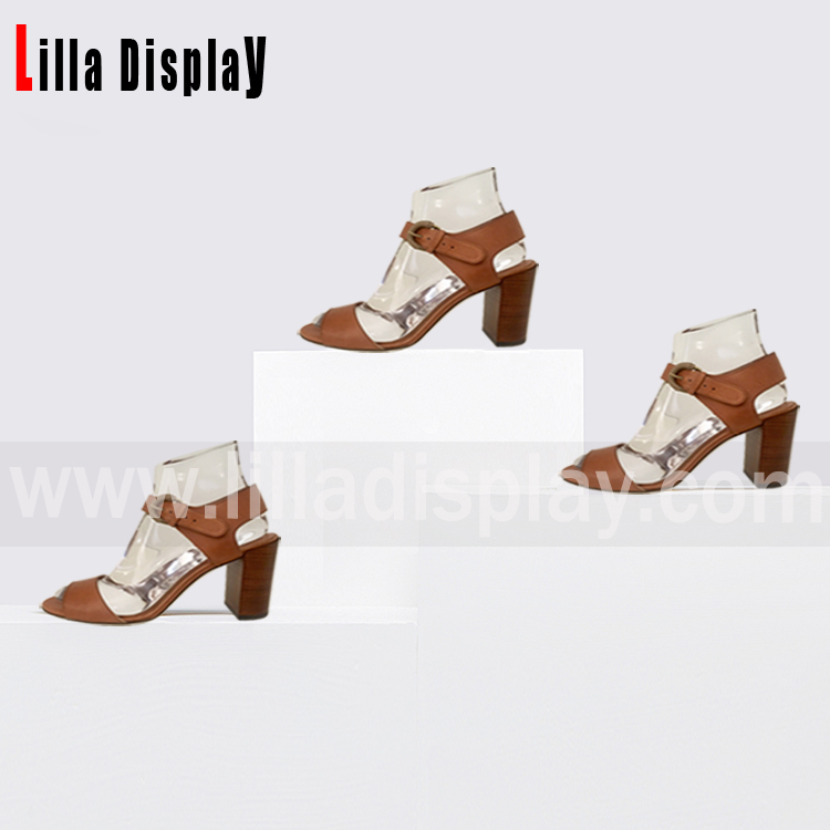 LilladisplayTransparent shoes fit retail shoes store use display stand for 6cm9cm height pumps wedges high heel disp