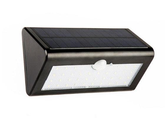Solar power PIR motion sensor led wall light outdoor garden light waterproof