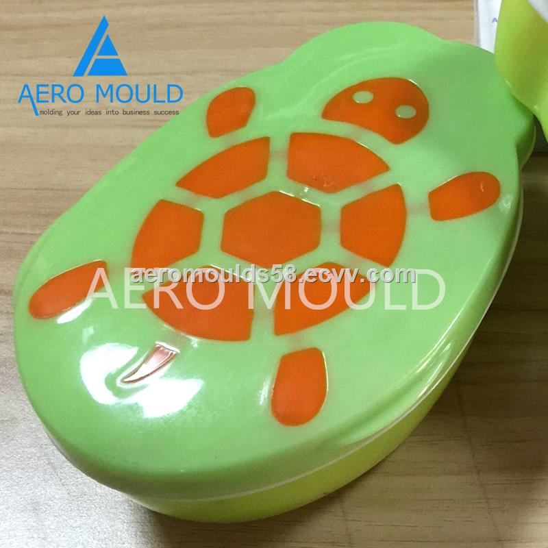 Double color plastic lunch box container injection mold