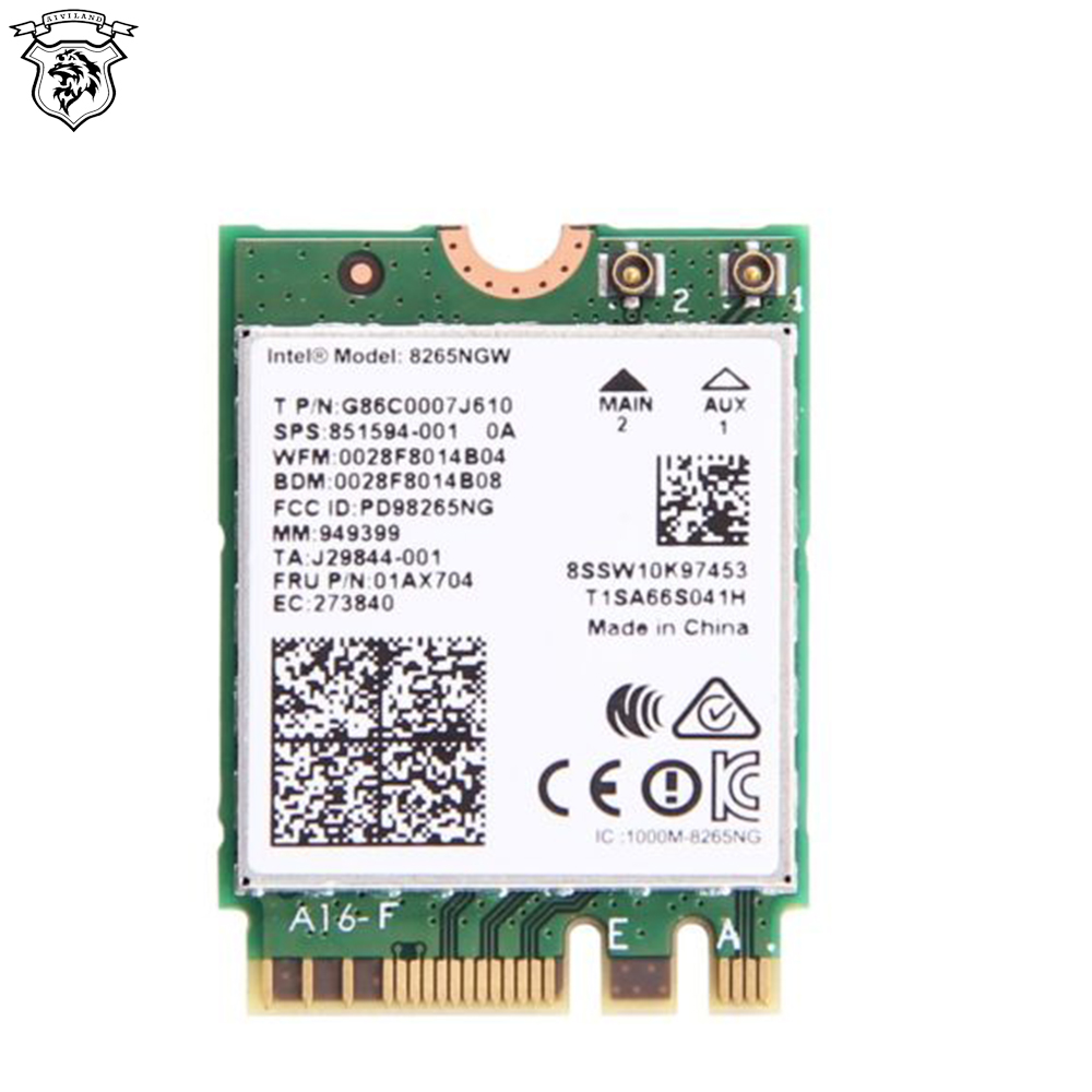 Wireless Dual Band 867Mbps For Intel AC 8265 NGFF Wifi Network Card 8265NGW 24G5Ghz 80211ac Bluetooth 42