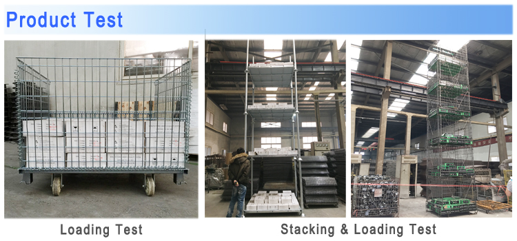 Returnable foldable and stackable metal zinc plate pet preforms wire mesh steel storage cargo pallet cages with pp sheet