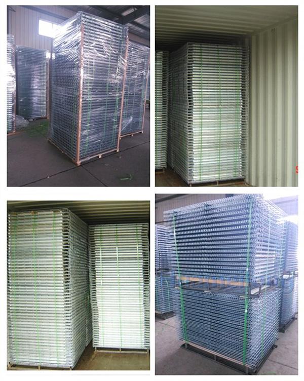 Dalian huameilong flared channel steel welded china zinc galvanized storage metal box beam wire mesh deck