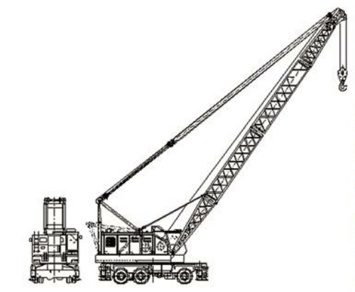 Rubber Tyre Mobile Crane for Cargo or Bulk Materials Handling and Lifting