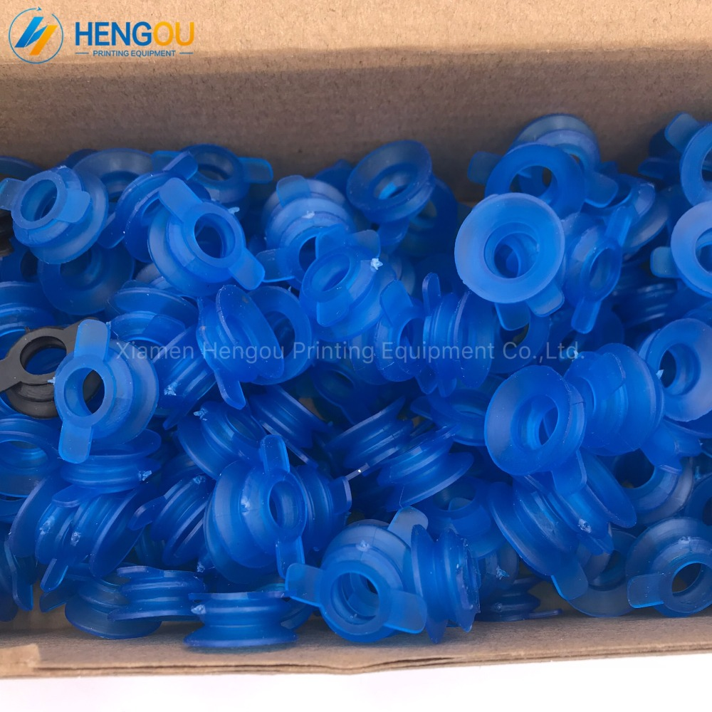 100 pieces blue quality rubber suckers Heidelberg rubber sucker for gto offset printing machinery parts 42016073