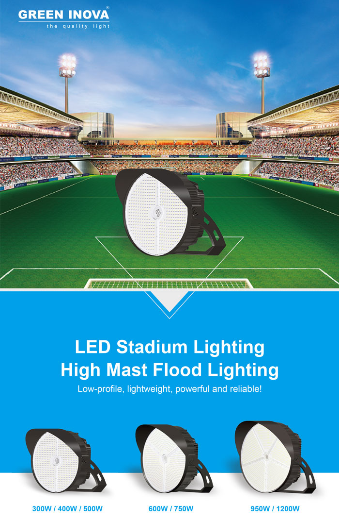 300400W top quality round LED light stadium