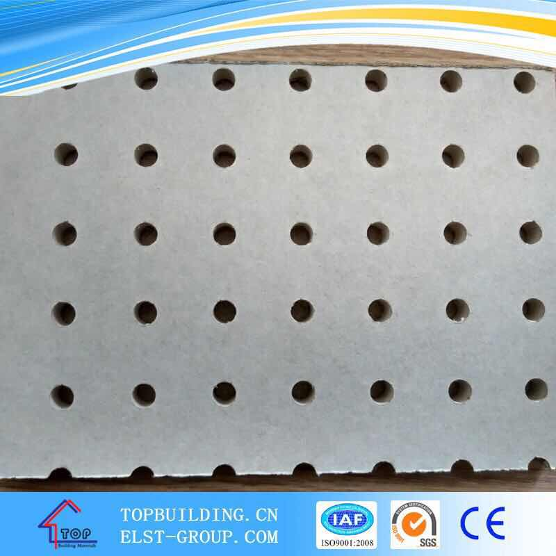 Perforated Gypsum Ceiling Tile Acoustic Gypsum Ceiling
