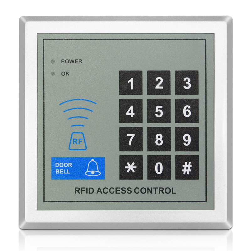 Attendance Machine Access Controller RFID Reader Electric Lock Power supply Exit button