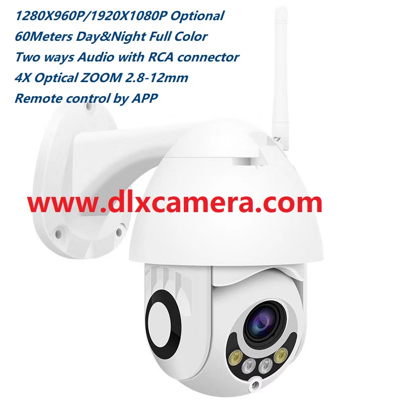 1080P 2Mp waterproof mini 25inch 4x optical zoom Smart Wireless and wired both support PTZ speed dome camera Max128G