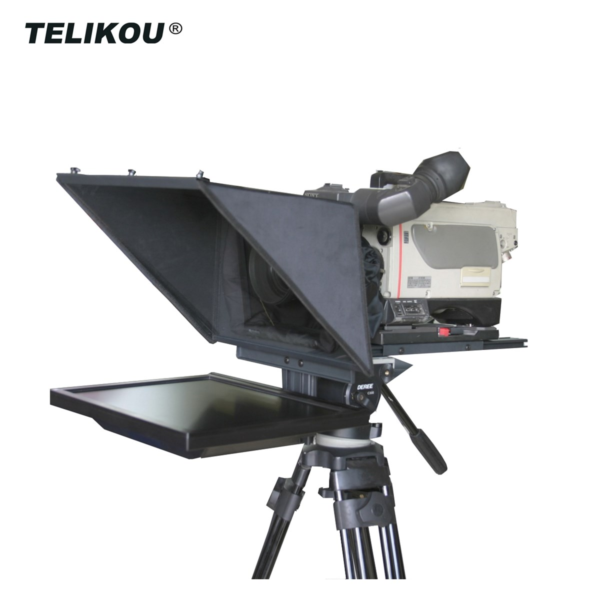 TELIKOU TF17 17inch Foldable Easy To Carry Teleprompter