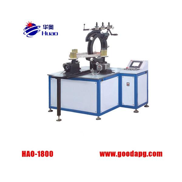 Toroidal transformer coil winding machine