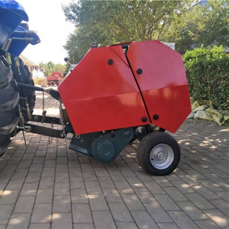 Hay and straw dry grass baler machine