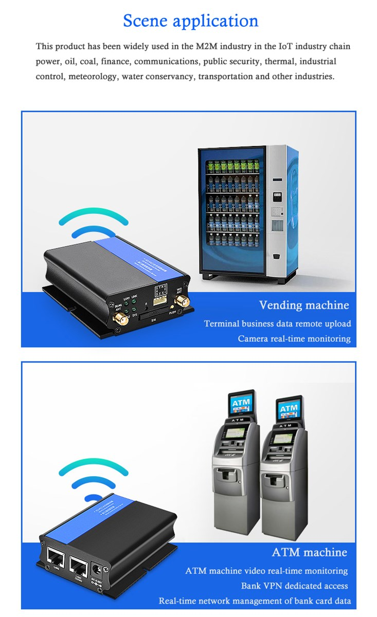 Industry 300Mbps Wireless WIFI CPE 4G Router With 2 LAN port SIM card slot