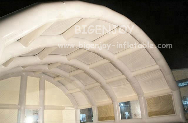 White large inflatable wedding tent for party with clear window