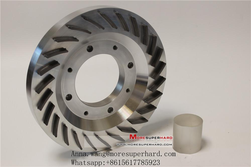 Back diamond thinning grinding wheel
