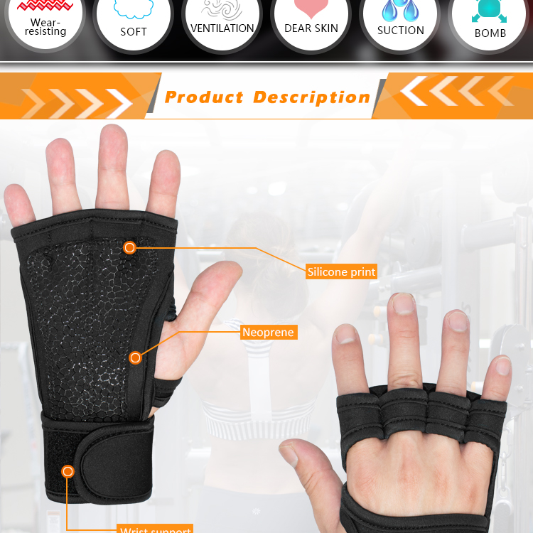 Custom Made Men Women Fitness Workout Weight Lifting Bodybuilding Exercise Gloves