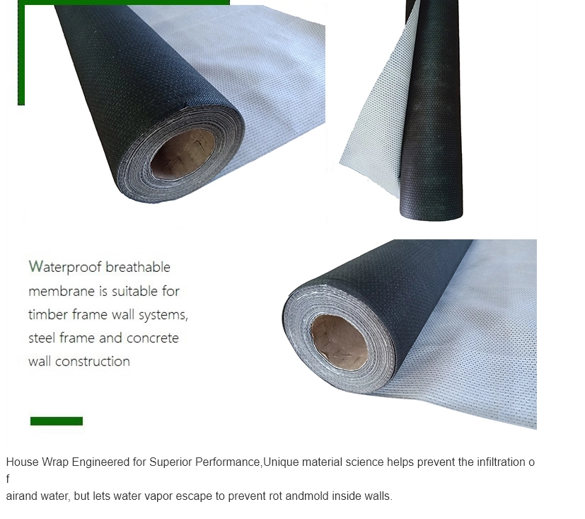 cheap microporous waterproofing air permeable house wrap underlayment