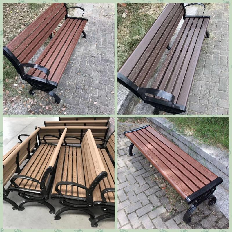 Wood Plastic Composite Long Chair Garden Bench
