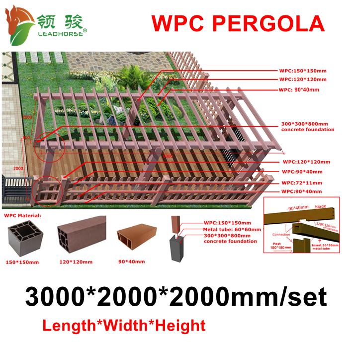Wood Plastic Composite WPC Pergola