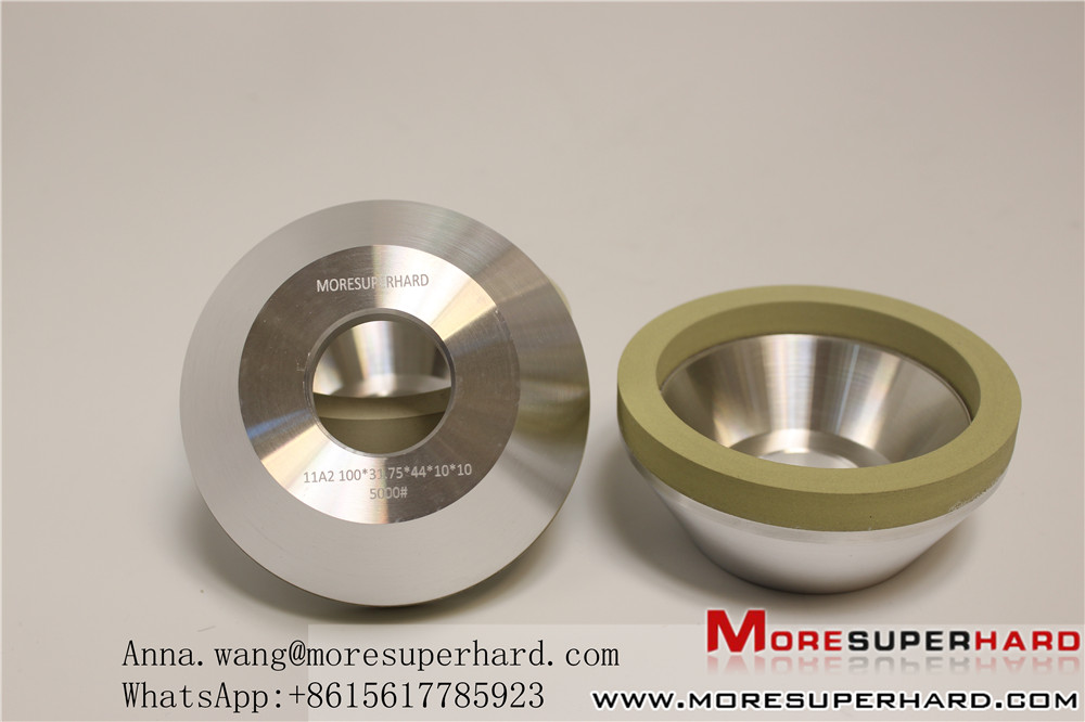 Vitrified diamond wheel for pcd tools grinding 11A2 shape
