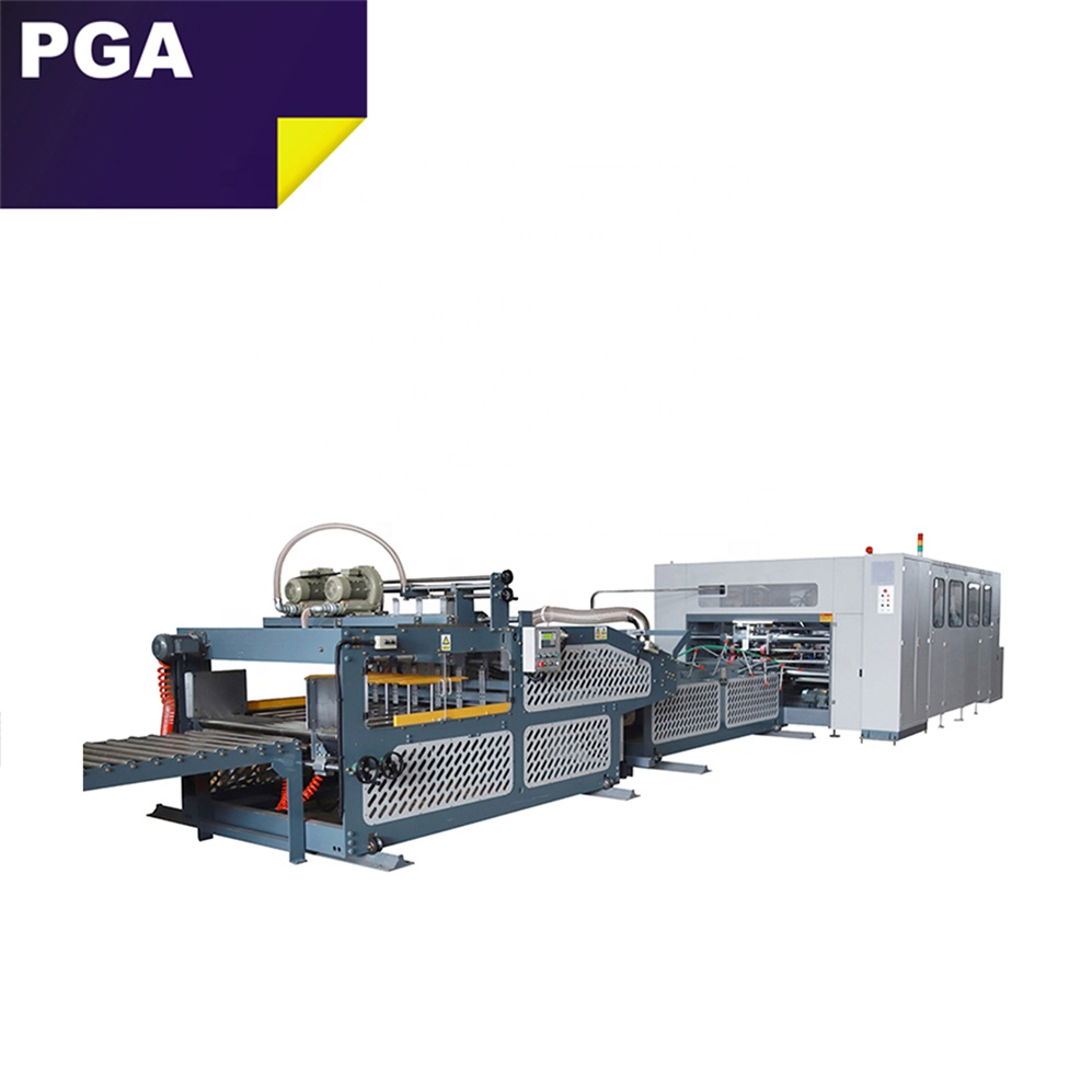 Automatic RSC straight line folding stitching machine corrugated carton box folder stitcher machine