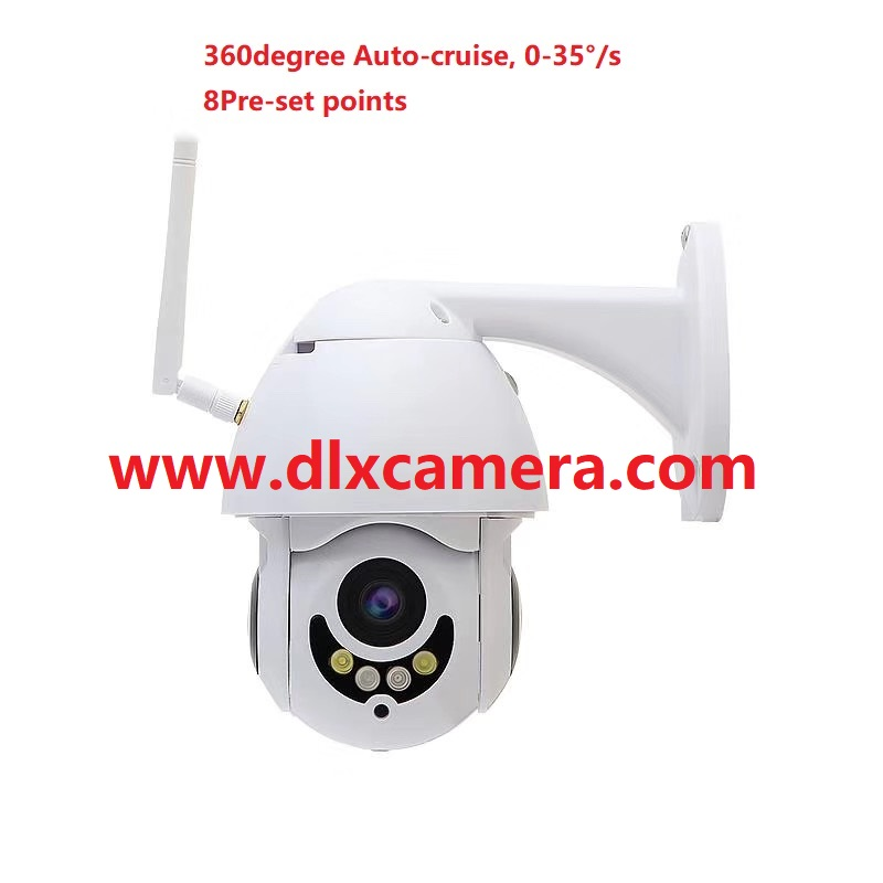 1080P 2Mp mini 25inch 2812mm Smart Wireless and wired both support PTZ speed dome camera Max128G SD two ways voice