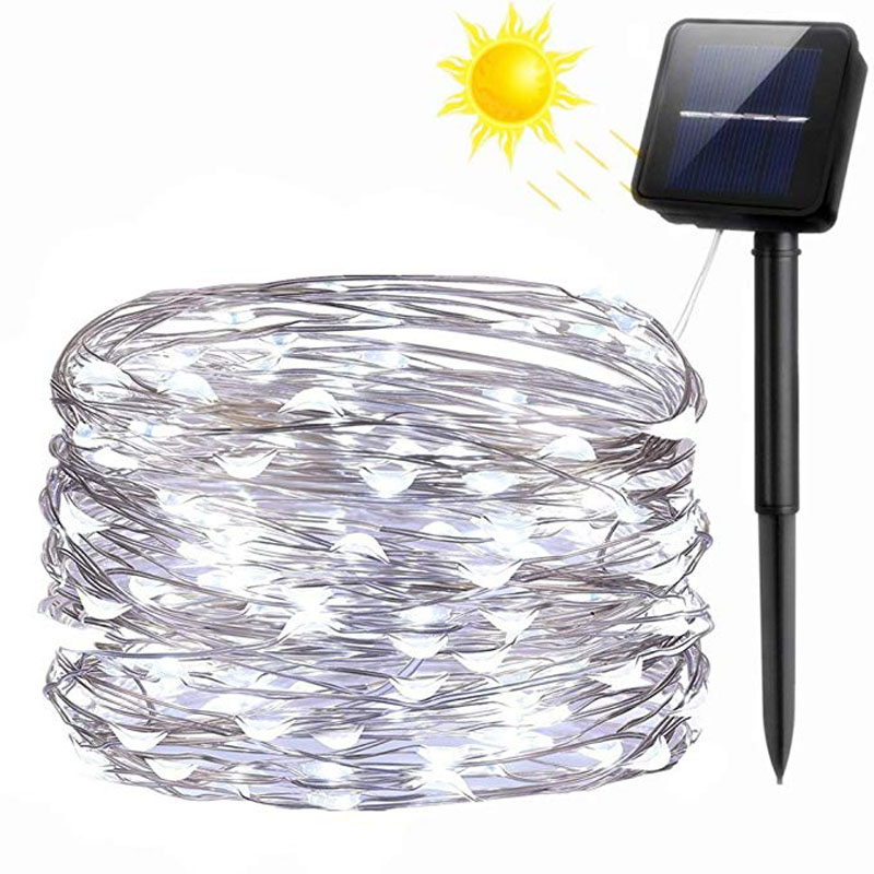 33ft 100LED Outdoor String Lights Waterproof Decorative String Lights for Patio Garden Gate Yard Party Wedding