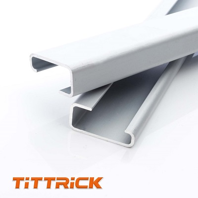 Tittrick 3215mm standard enclosure aluminum din rail with zinc plating without slotted