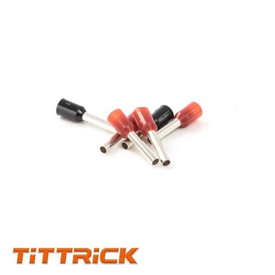 Tittrick CordEnd Sleeves Terminals Insulated 1000 PCS Per Pack