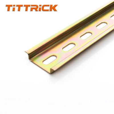 Tittrick DIN RAIL STEEL SLOTTED 2MTR STANDARD 75X35MM