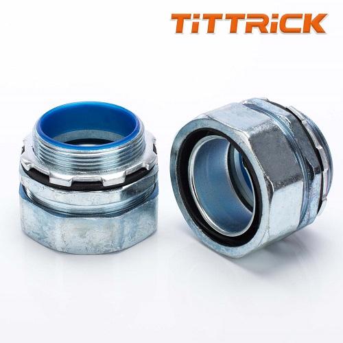 Tittrick Metal Flexible conduit Adaptor Hexagonal Joint High quality Zinc Alloy
