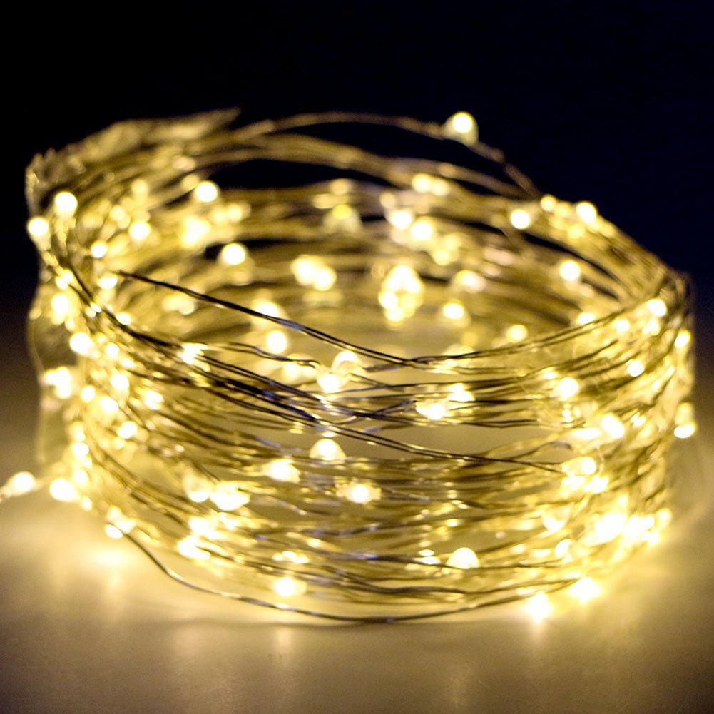 Fairy Lights Battery Operated 33 ft 100 LEDS Waterproof Outdoor Indoor Decorative LED String Lights Dimmable Remote