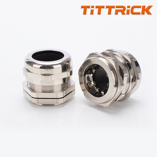 Tittrick Metal Flexible Conduit Cable Gland Quick Fix Connection