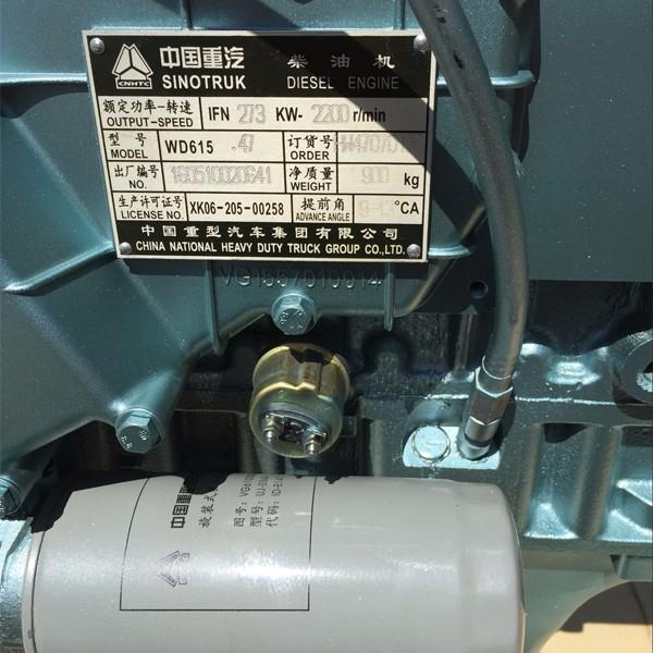 SINOTRUK CNHTC 371hp Engine WD61547