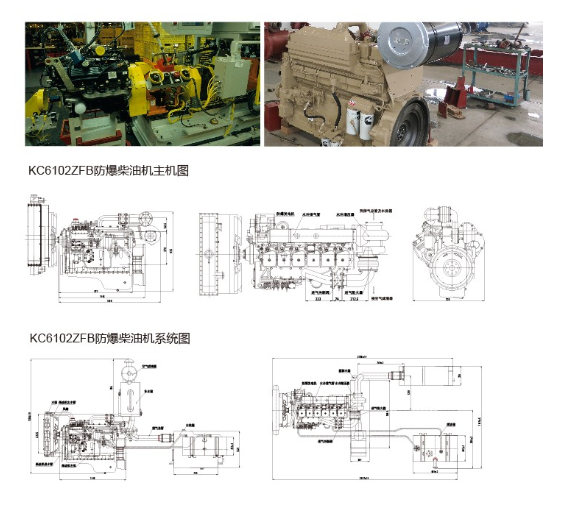 Explosion Proof Diesel Engine for Oil Field Coal Mine Gas Stations Refineries Flour Cotton and