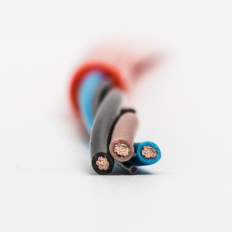Flexible control round PVC cable