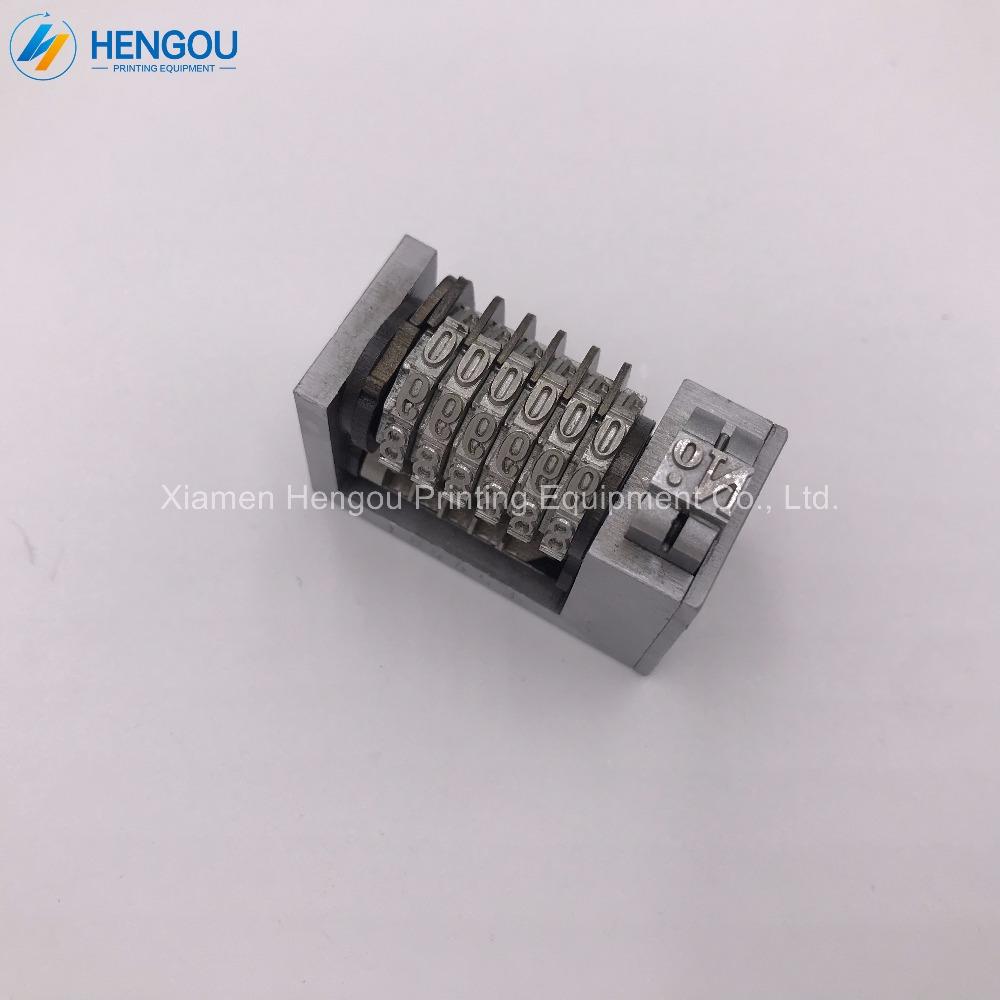 1 Piece full steel 6 digits Numbering machine Platen printing machine number 4X8 Cicero printer backward jump mode 654